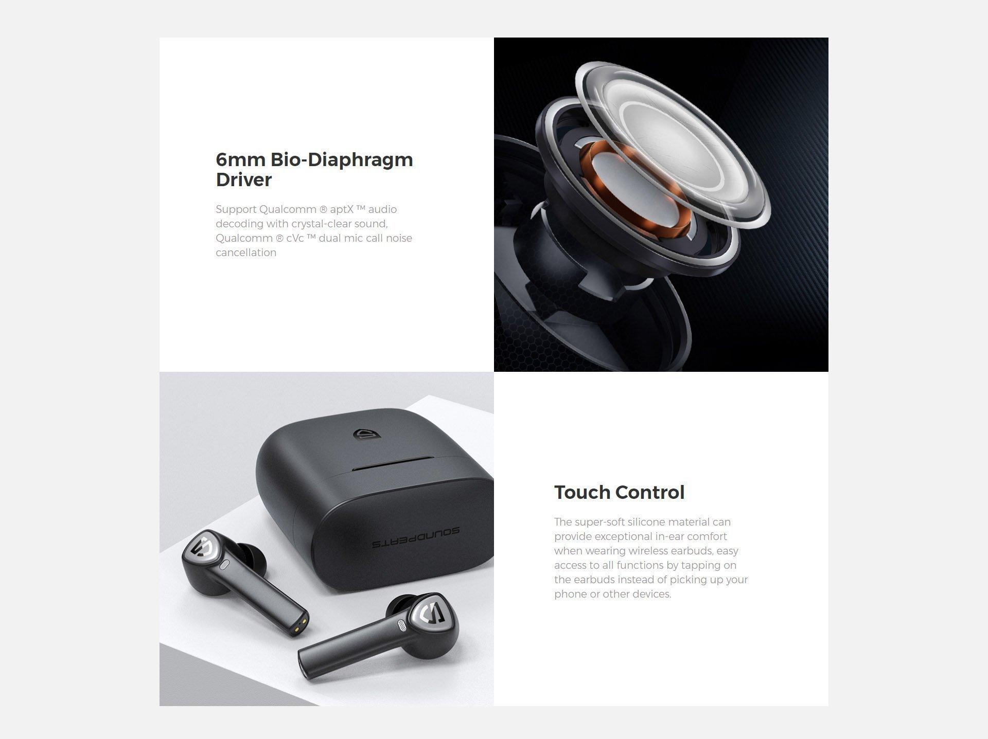 soundpeats true capsule 2 wireless earbuds 1