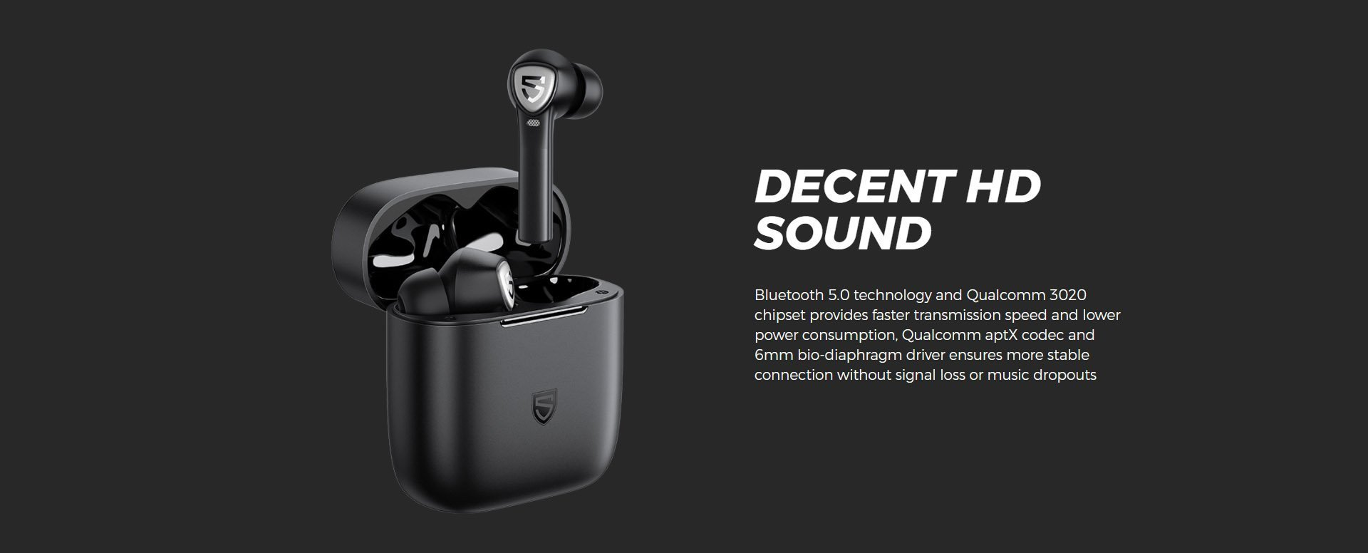 soundpeats true capsule 2 wireless earbuds