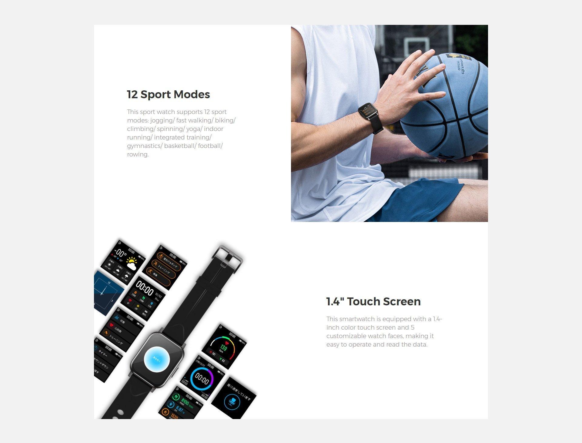 smart watch sounpeats 4