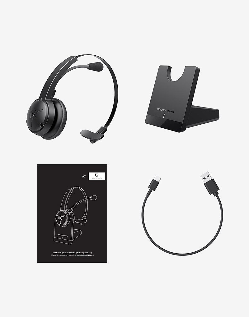 Bluetooth wireless headset with microphone 2