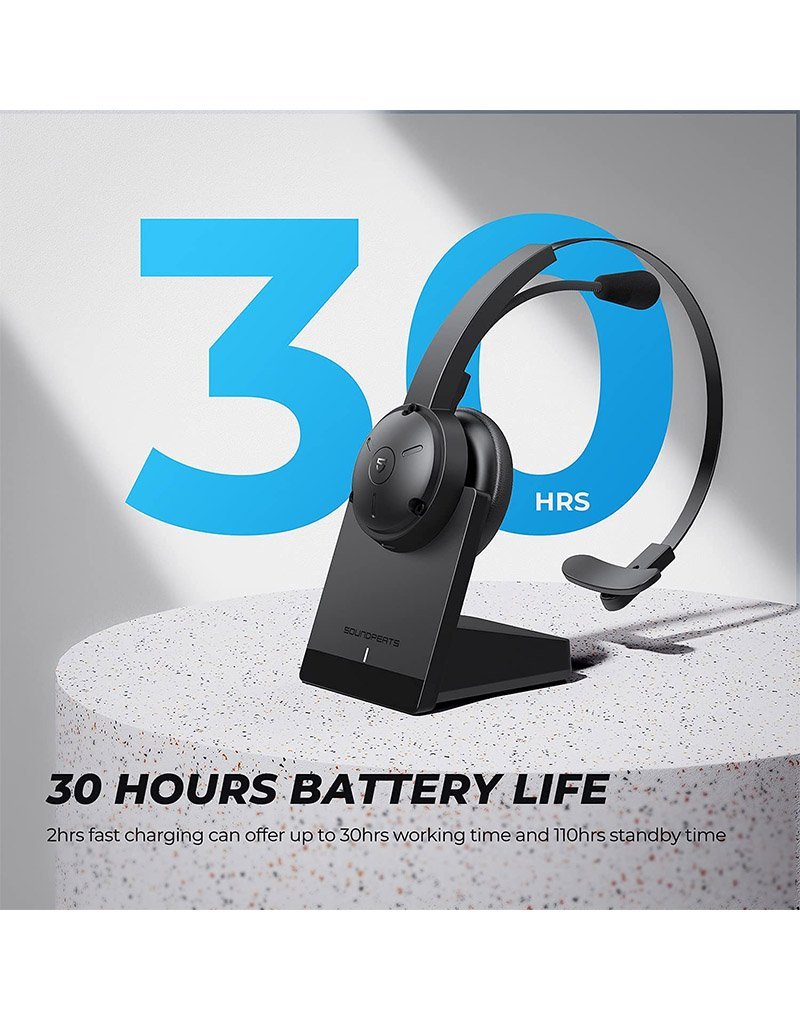 Bluetooth wireless headset with microphone 6